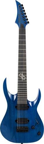 Solar Guitars A2.7TBL Trans Blue Matte
