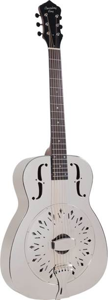 Recording King Style-0 RM-998-D Bell Brass Resonator D Chickenfoot Coverplate Nickel