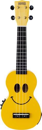Mahalo Ukulele U Smile Yellow Electro Acoustic Yellow