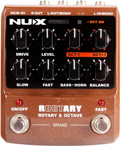 NUX Roctary Effects Rotary Speaker and Octave Pedal