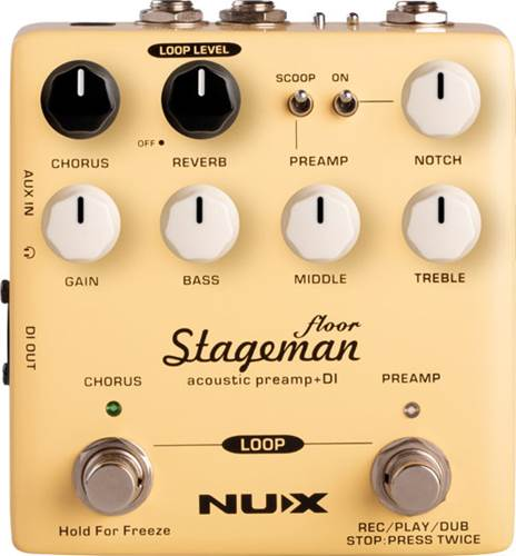 NUX Stageman Floor Acoustic Preamp DI Pedal