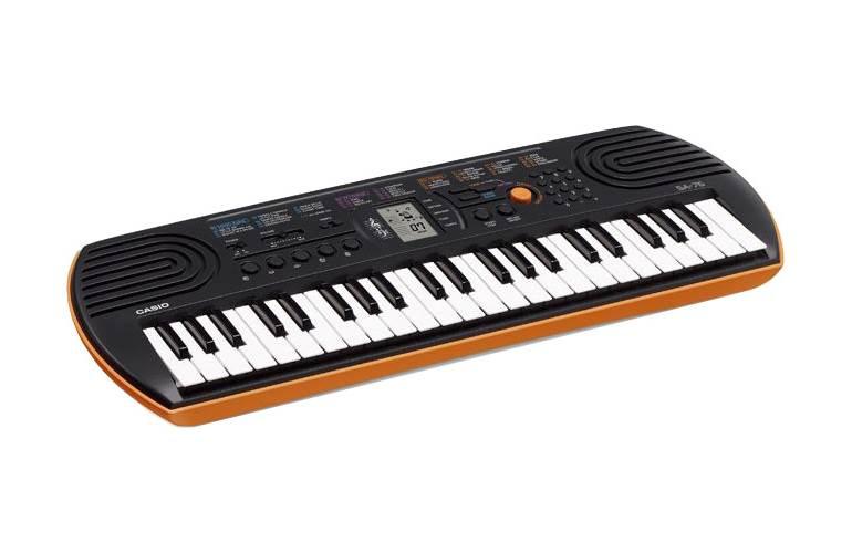 Casio SA-76 Mini Keyboard Black and Orange