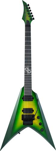 Solar Guitars V1.6FRLB Flame Lime Burst Matte