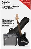 Squier Affinity HSS Stratocaster Pack Charcoal Frost Metallic