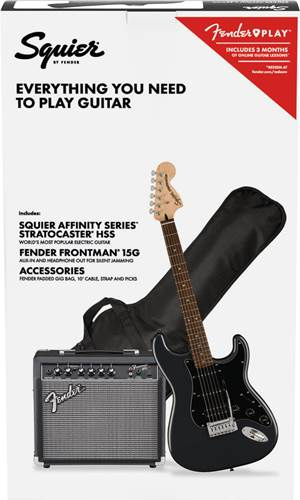 Squier Affinity HSS Strat Pack Charcoal Frost Metallic