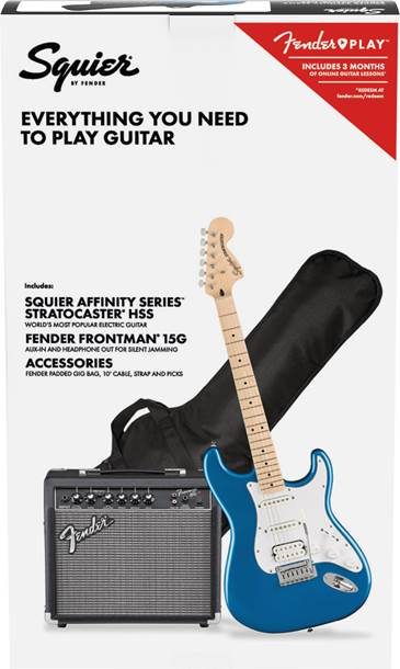 Squier Affinity HSS Stratocaster Pack Lake Placid Blue