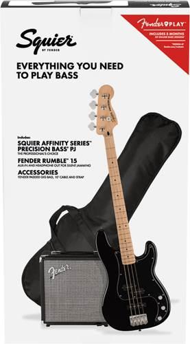 Squier Affinity P-Bass PJ Pack Black