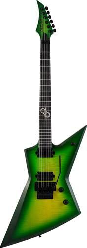 Solar Guitars E1.6FRLB Flame Lime Burst Matte