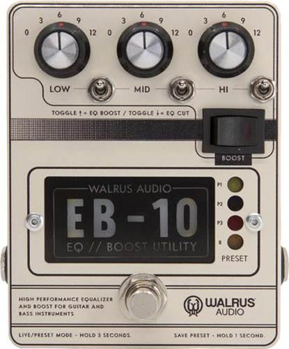 Walrus Audio EB-10 Preamp/EQ/Boost Cream