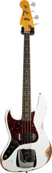 Fender Custom Shop 1961 Jazz Bass Heavy Relic Olympic White Left Handed #CZ552633