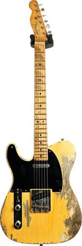 Fender Custom Shop 1951 Telecaster Super Heavy Relic Aged Nocaster Blonde Left Handed #R109119