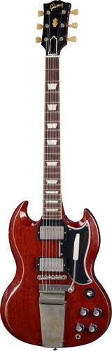 Gibson Custom Shop Murphy Lab 1964 SG Standard Reissue with Maestro Vibrola Heavy Aged Faded Cherry