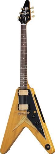 Gibson Custom Shop 58 Korina Flying V Black Pickguard Natural VOS