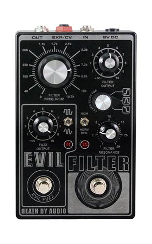 Death By Audio Evil Filter Fuzz Pedal