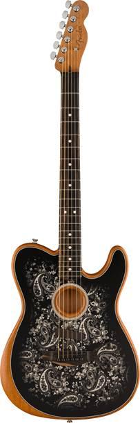 Fender FSR Acoustasonic Telecaster Black Paisley