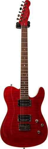 Fender Custom Telecaster FMT HH Crimson Red Transparent Indian Laurel Fingerboard (Pre-Owned)