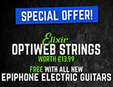 Free Set of Elixir Strings with Epiphone Electric Guitars