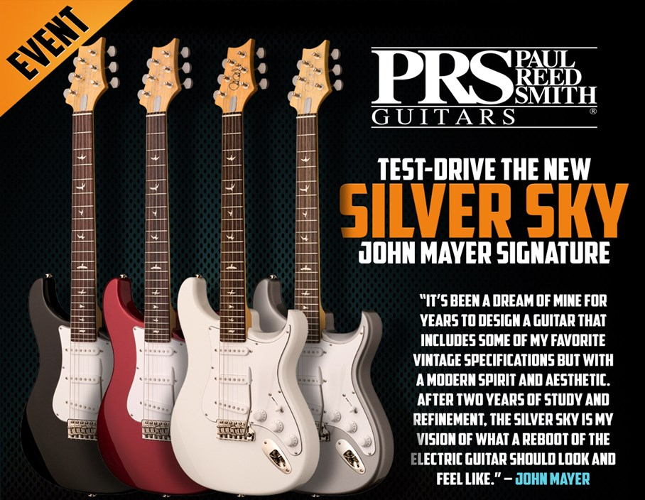 Events: Try Out the PRS Silver Sky