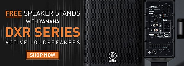 FREE Speaker Stands with Yamaha DXR Series Speakers