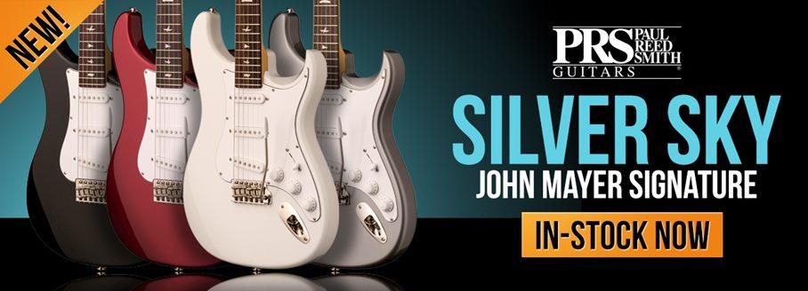 Electric guitars guitarguitar prs john mayer silver sky freerunsca Image collections