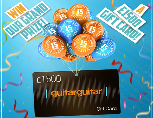 15th Anniversary: Win a £1500 Gift Card