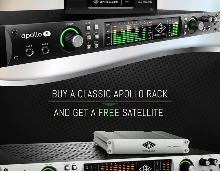 Offer: Free Universal Audio Satellite with Classic Apollo Rackmount