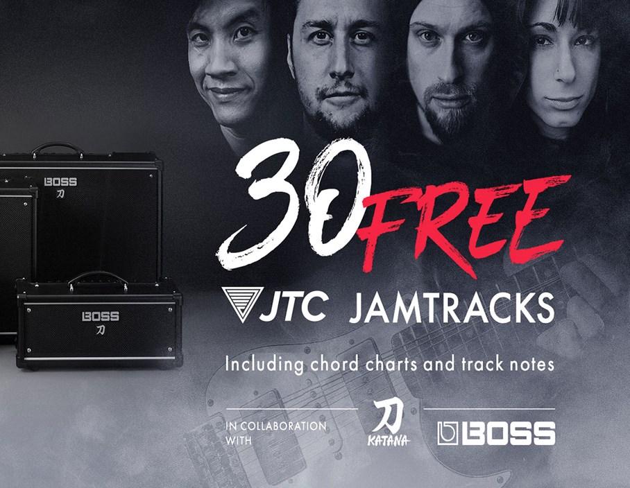 Offers: Bag yourself 30 FREE Jam Tracks when you buy a BOSS Katana Amp!