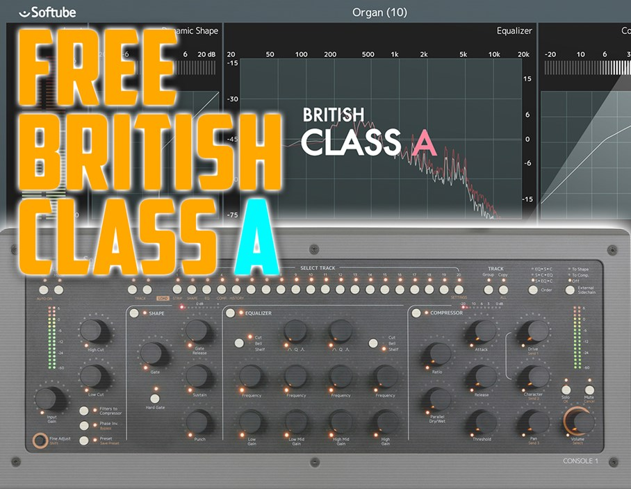 Offers: Free British Class A Channel Strip with Softube Console 1