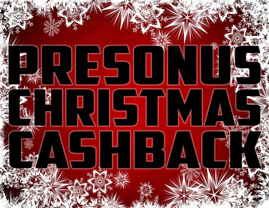 Offers: Presonus Christmas Cashback!