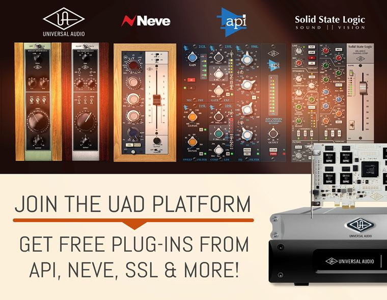 Offers: Buy a UAD-2 DSP Accelerator and Get Free Plug-Ins