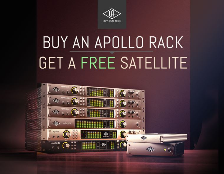 Offer: Free Universal Audio Satellite with Apollo Racks