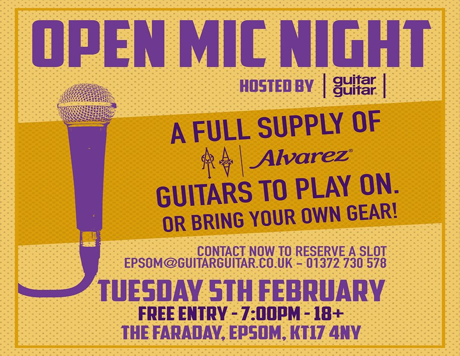 Events: guitarguitar Epsom Open Mic Night