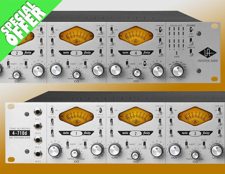 Offer: Free Universal Audio UAD-2 QUAD DSP Accelerator with a 4-710d Mic Preamp