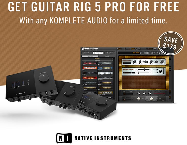 Offers: Free Copy of Guitar Rig with any Komplete Audio Interface