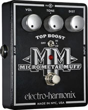 Electro Harmonix Micro Metal Muff Distortion with Top Boost