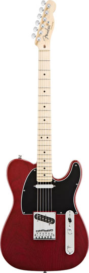 Fender American Deluxe Tele Ash MN Wine Transparent
