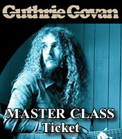 Tickets Guthrie Govan MASTERCLASS - 6th Dec - Birmingham