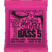 Ernie Ball 2824 Super Slinky 5-String Bass Nickel Wound 40-125