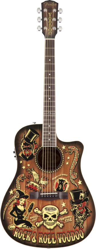 Fender t bucket 300 ce vince ray voodoo for Electric voodoo tattoo