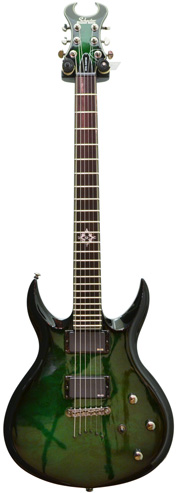 Schecter Devil Custom Greenburst (Pre-Owned)