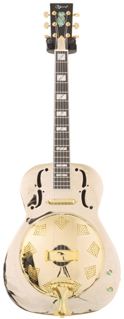 Ozark 3515BTE Brass Thinline Electric Resonator (Pre-Owned)