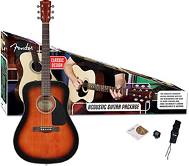Fender CD-60 Acoustic Guitar Pack Sunburst