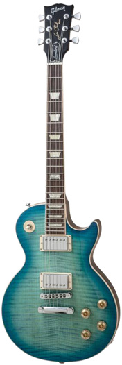 Gibson Les Paul Standard Plus 2014 Ocean Water Perimeter Chrome