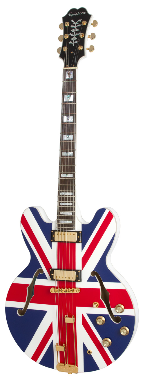 epiphone limited edition union jack sheraton outfit. Black Bedroom Furniture Sets. Home Design Ideas