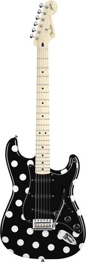 fender buddy guy polka dot stratocaster mn black white dots. Black Bedroom Furniture Sets. Home Design Ideas