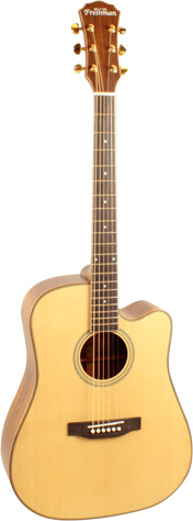 Freshman SONGDCE Dreadnought Cutaway w/AER Tube Satin Natural