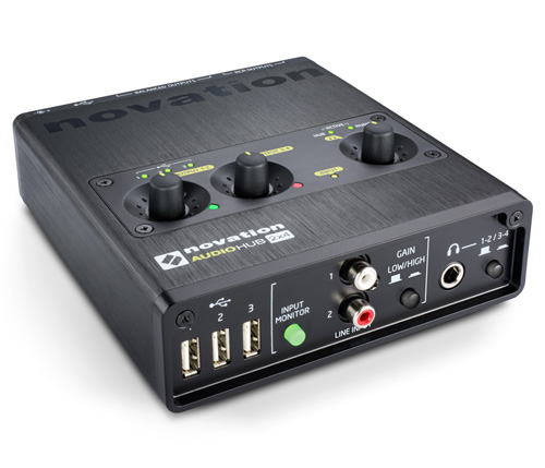 Buy the Novation Audiohub 2x4 USB Hub + Audio Interface