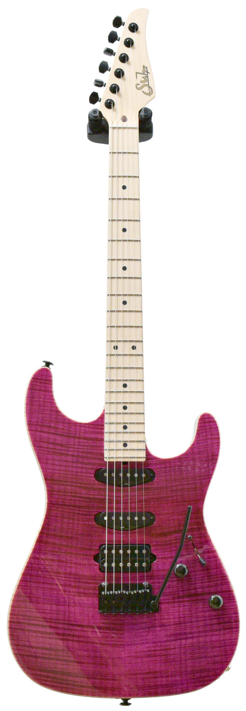 suhr guitarguitar select 38 standard magenta pink stain flame maple top mn 28073. Black Bedroom Furniture Sets. Home Design Ideas