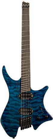 Strandberg boden os 6 limited edition blue quilt ebony board for Boden os 6 tremolo