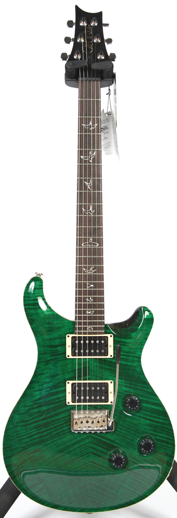Prs Custom 24 Emerald Green 10 Top Birds Trem